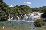 Landschap Krka watervallen, riviera Krka