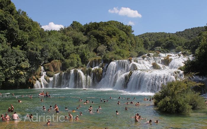 Landscape of Krka falls, Krka Riviera