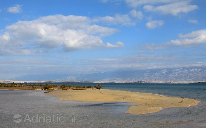 Dio plaže u mjestu Nin, rivijera Zadar
