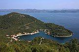 Panoramic view of Okuklje, Mljet Riviera