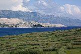 Panorama wyspy Pag, riwiera Pag
