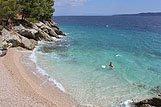 Plaža u mjestu Pisak, rivijera Omiš