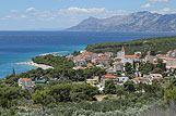 Panorama del paese Promajna, riviera di Makarska