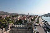 Panorama mesta Trogir, riviera Trogir