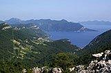 Pogled odozgo na mjesto Trstenik, rivijera Pelješac