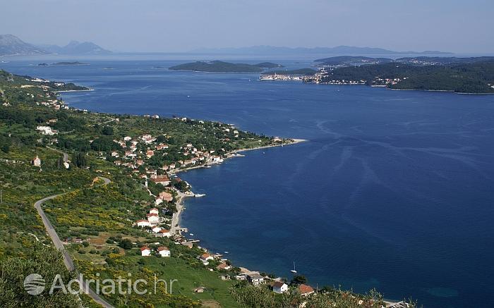 Panorama mjesta Viganj, rivijera Pelješac