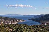 Panorama mesta Vinišće, riviera Trogir