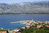 Panorama mjesta Vinjerac, rivijera Trogir