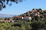 Panorama mjesta Vrisnik, rivijera Hvar